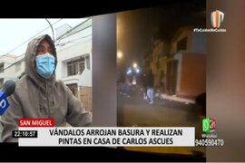 Carlos Ascues: Vecinos atemorizados por presuntos hinchas de Alianza Lima que vandalizaron casa de futbolista