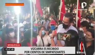 Moquegua: Martín Vizcarra fue recibido entre aplausos por cientos de simpatizantes