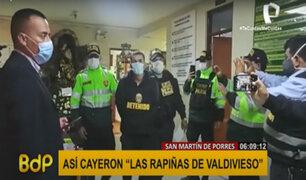 """SMP: Policía capturó a banda 'Las rapiñas de Valdivieso"""""""