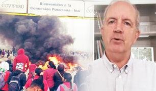 """Fernando Cillóniz sobre protestas en Ica: """"Es mentira que los sueldos sean bajos"""""""