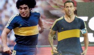 Tevez homenajeó a Maradona en el triunfo de Boca ante Inter