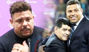 Ronaldo Nazario y su tristeza por la muerte de Maradona