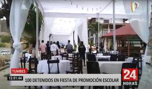 Tumbes: más de 100 festejaban promoción escolar en hotel
