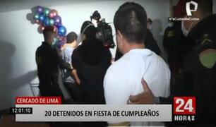 Policía intervienen fiesta clandestina en excine Tauro