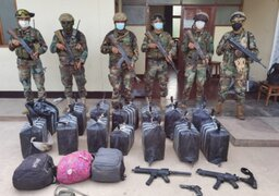 Sinchis de Mazamari incautan casi media tonelada de cocaína y armas de guerra