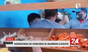 Cañete: comerciantes de verduras se agarran a golpes