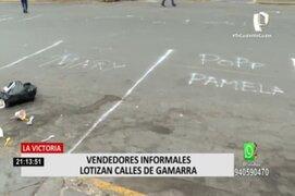 La Victoria: Vendedores informales lotizan calles de Gamarra