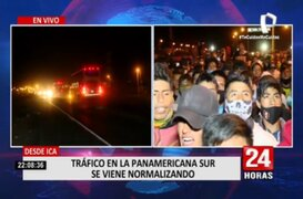 Ica: Así se reanuda el tránsito en la Panamericana Sur