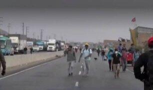 Reportan nuevo bloqueo en la Panamericana Norte a la altura del distrito de Chao