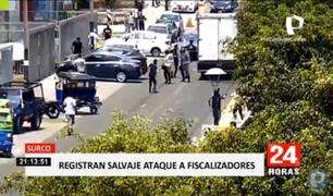 Surco: registran salvaje ataque a fiscalizadores