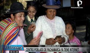 Huancavelica: centro poblado de Pachamarca ya tiene Internet