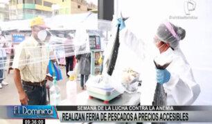 Semana de lucha contra la anemia: Realizan feria de pescados a precios accesibles
