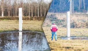 Hallan otro monolito metálico de origen desconocido en Países Bajos