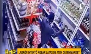 Lince: detienen a 'tendero' intentando llevarse productos de minimarket
