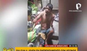 SJM: joven fue baleado en la pierna tras brutal pelea entre vecinos