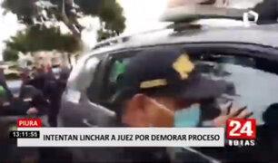 Piura: ciudadanos intentaron linchar a juez por demorar proceso