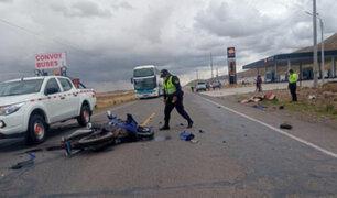 Policía falleció tras impactar su moto contra un automóvil en la vía Juliaca–Cusco