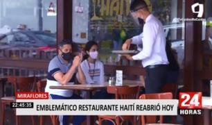 Miraflores: emblemático restaurante Haití reabrió sus puertas
