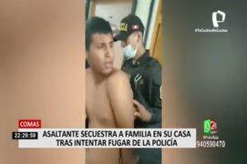 Comas: ladrón secuestra a familia dentro de su propia casa tras intentar fugar de la Policía