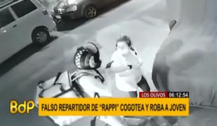 Delincuente con mochila de 'Rappi' encañona a joven para quitarle su celular