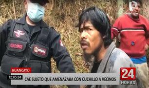 Huancayo: detienen a sujeto que amenazaba con un cuchillo a campesinos