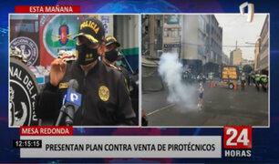 Policía advierte que venta de pirotécnicos en Mesa Redonda está prohibido