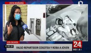 Los Olivos: víctima de falso repartidor relata cómo le robaron en la puerta de su casa