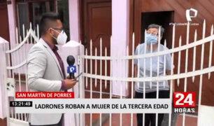 Delincuentes roban 4 mil soles a adulta mayor en San Martín de Porres