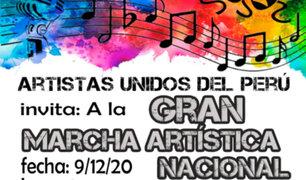 Artistas marcharán este miércoles 9 para ser incluidos en la reactivación laboral