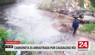 Cajamarca: camioneta fue arrastrada por la corriente del río Porcón