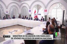 Ministros se reunieron con familiares de jóvenes fallecidos en marcha nacional
