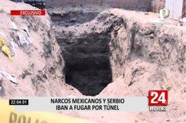 Panamericana TV recorre túnel por donde iban a escapar narcotraficantes de penal Castro Castro