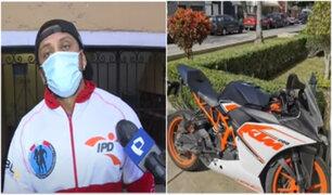 Magdalena: Roban moto de seleccionado nacional de fisicoculturismo valorizado en más de 14 mil soles