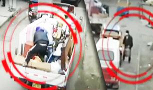 SJM: delincuente roba camión de mudanza en movimiento