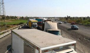 Panamericana Sur: PNP retira a colectiveros y se restablece el tránsito vehicular