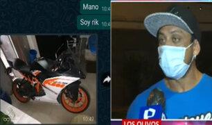 Seleccionado de fisicoculturismo denuncia que venden su motocicleta robada en redes sociales