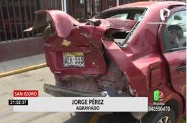 San Isidro: Denuncian que policía aparentemente ebrio ocasionó accidente de tránsito