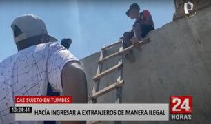 Sujeto usaba una escalera para hacer ingresar a extranjeros ilegales al país
