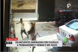 El Agustino: delincuentes asaltan carwash y se llevan S/ 5.000