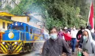 """Suspenden salidas del tren de  """"Perú Rail"""" por protestas en el Cusco"""