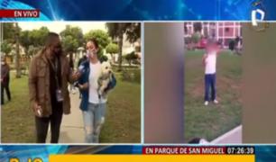 San Miguel: sujeto habría amenazado con arma a vecinos en parque