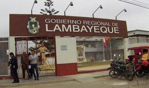 Fiscalía y Contraloría intervienen sede del gobierno regional de Lambayeque
