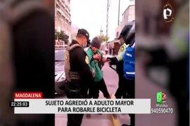 Magdalena: Sujeto agredió a anciano para robarle su bicicleta