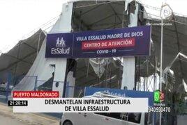 Puerto Maldonado: Desmantelaron infraestructura de Villa EsSalud