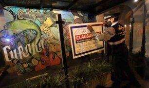 Miraflores: clausuran cuatro locales nocturnos por infringir normas sanitarias y de seguridad