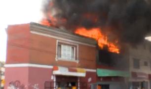 Cercado de Lima: tres heridos deja el voraz incendio en la avenida Paseo de La República