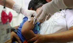 Minsa: hoy continúa vacunación nacional contra la difteria y otras enfermedades