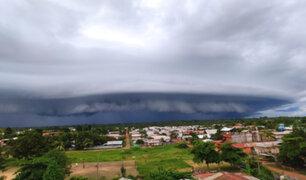 Pucallpa: impresionante nube de tormenta causó gran asombro en vecinos