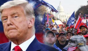 Miles de seguidores de Trump se manifestaron en Washington contra Biden
