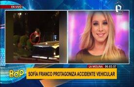 Sofía Franco provoca doble accidente vehicular en estado de ebriedad